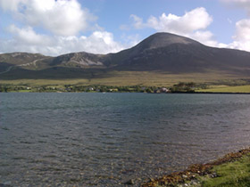 Side view of Croagh Patrick, Mayo, Ireland